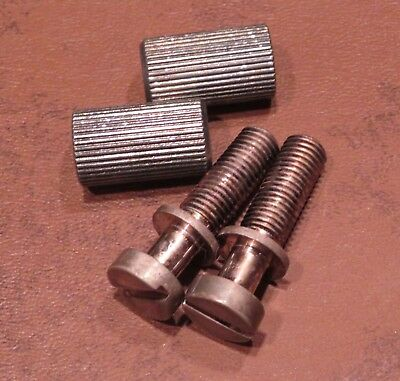 AGED Tailpiece STUDS Brass Nickel fits 1959 Gibson Historic Les Paul