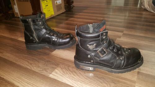 Harley Davidson 91684 Black Biker Leather Boots m