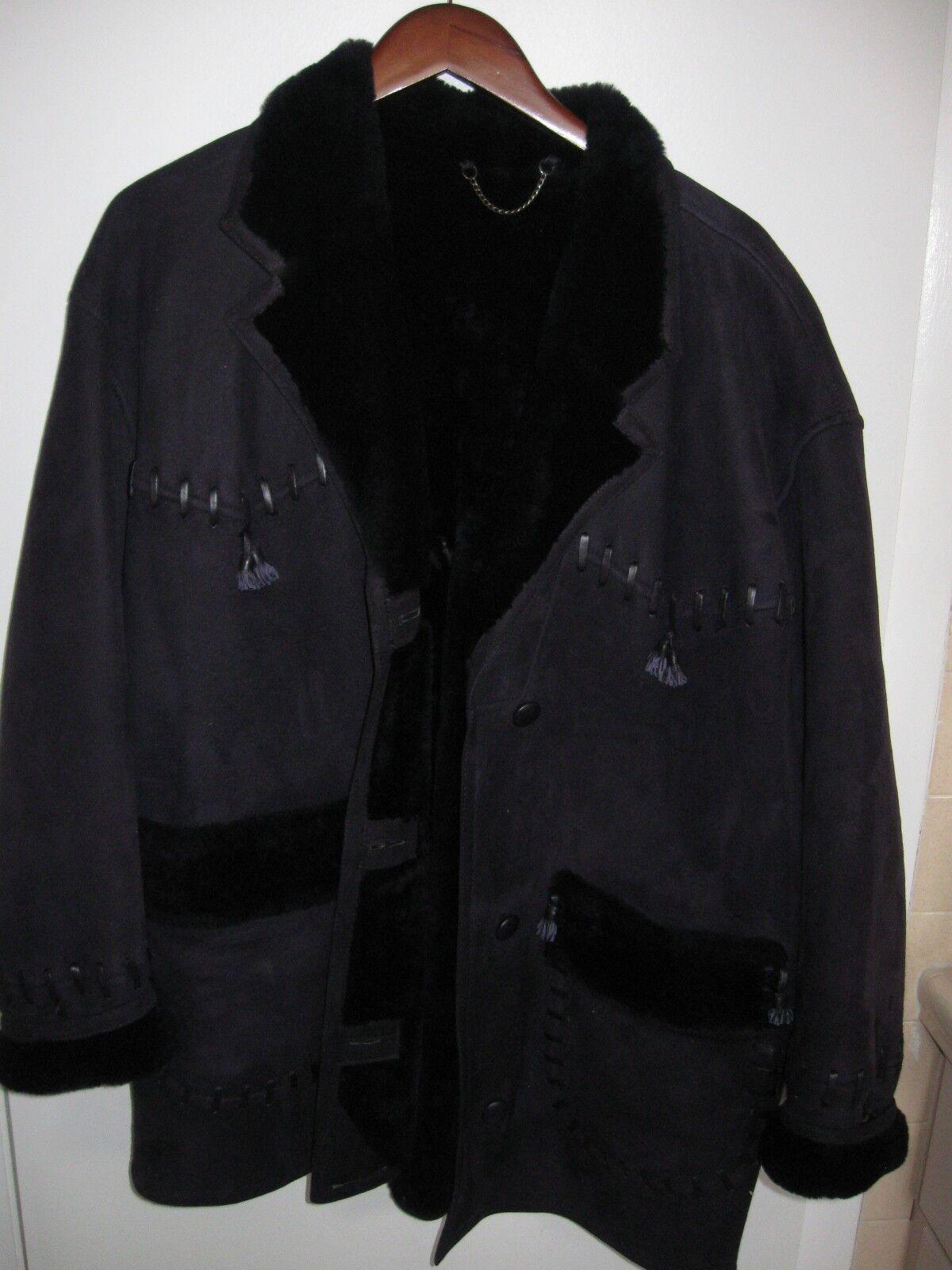 Premium Original Sheerling Leather Coat size IT 40 Made in Uruguay