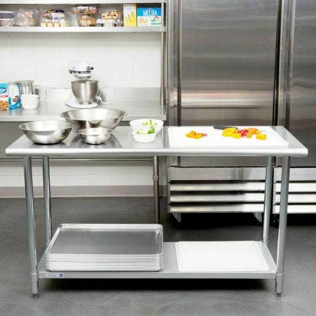 60in Stainless Steel Metal Cook Food Kitchen Work Prep SS Table Restaurant  24x60