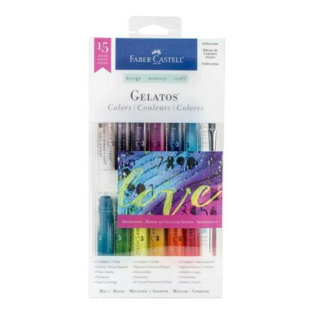 Faber Castell - Gelatos Colors Kit 15 pack Iridescents