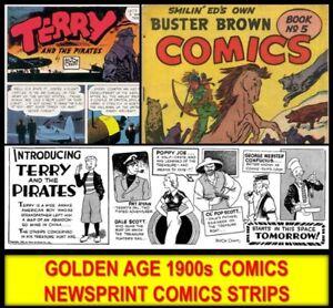 GOLDEN-AGE-COMICS-Lot-1940s-NEWSPAPER-COLLECTION-DVD-Joe-Palooka-Terry-Pirates