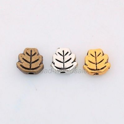 New Retro Style Alloy Leaf Spacer Bead Silver/Golden/Bronze Wholesale Hot Sale
