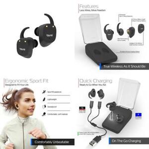 9f13e36b228 Image is loading Bluetooth-Headphones-Tzumi-True-Wireless-Earbuds-Stereo- Bluetooth-