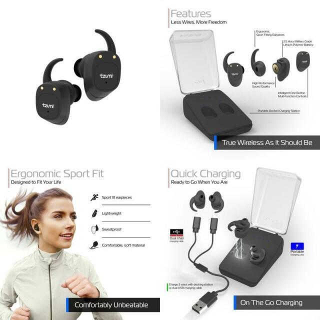 Bluetooth Headphones Tzumi True Wireless Earbuds Stereo Headset V4 2