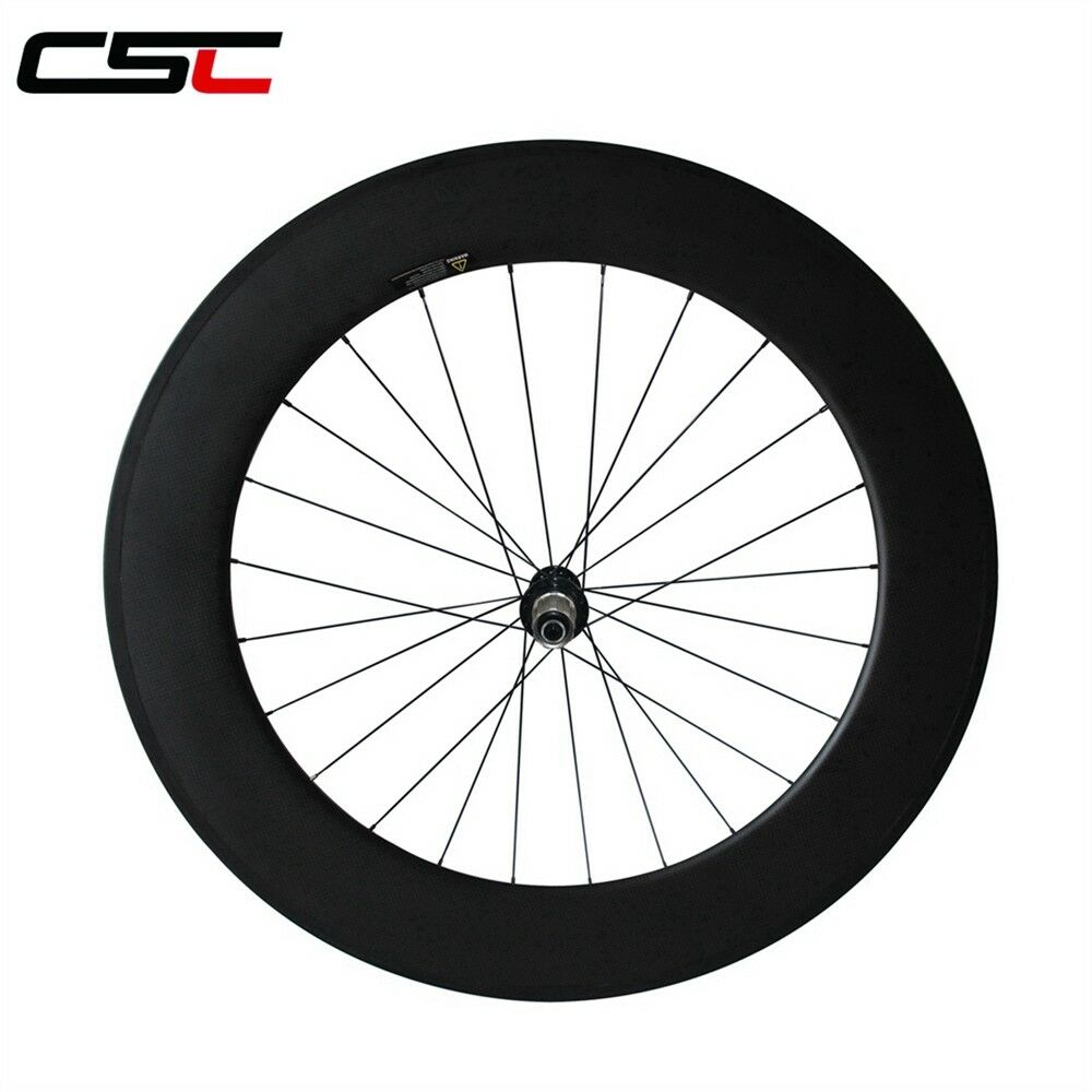CSC 700C Powerway carbon wheels 88mm clincher rear carbon bike  road wheels only  luxury brand