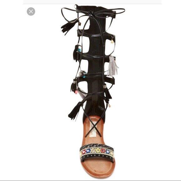 Vintage Havana Women's Britney Gladiators Wrapped Lace Black Sandals Sandals Sandals shoes 9ef266