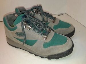 Vasque-Gray-Suede-Green-Hiking-Shoes-Womens-Size-7