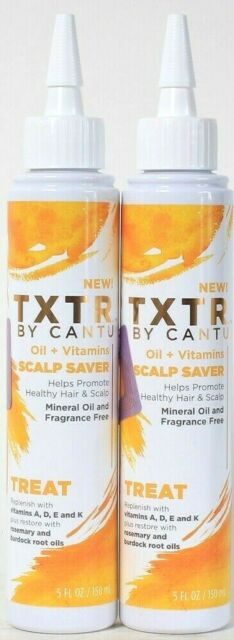 2 Ct TXTR By Cantu 5 Oz Treat Oil & Vitamins A D E K Healthy Hair & Scalp Saver