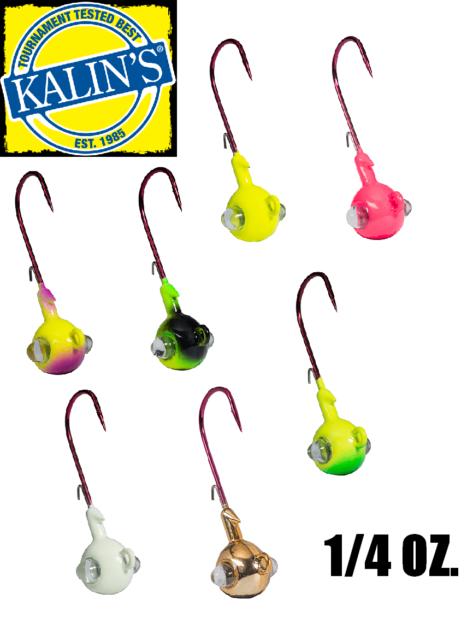 Kalin's Google Eye Rattlin' 1/4 oz  Jig Heads (Select Color)