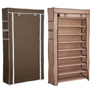Details About 10 Layer Shoe Boot Rack Shelf 45 Pairs Storage Closet  Organizer Cabinet W/ Cover
