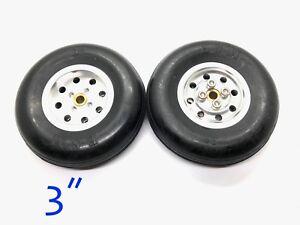 1pair-3-034-CNC-Aluminum-Hub-amp-Rubber-Wheel-for-RC-Airplanes-US-GOOD-SELLER-SHIP