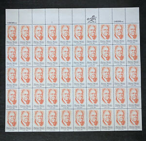 #2095 – FULL SHEET of 50 - Horace Moses - 20 cent stamps - straight edge