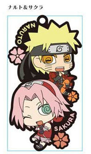Naruto Naruto and Sakura Pair Rubber Phone Strap NEW