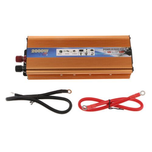 Portable Solar Power Auto Wechselrichter 2000 Watt 12 V Zu 220 V AC Spannung