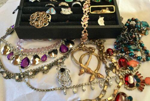 Lot Vintage Costume Jewelry Sterling Rhinestone Ba