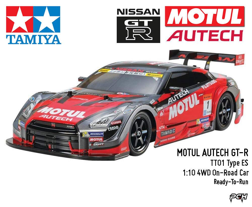 Tamiya 1:10 Motul Autech GT-R 4WD para carretera coche RTR TAM46631