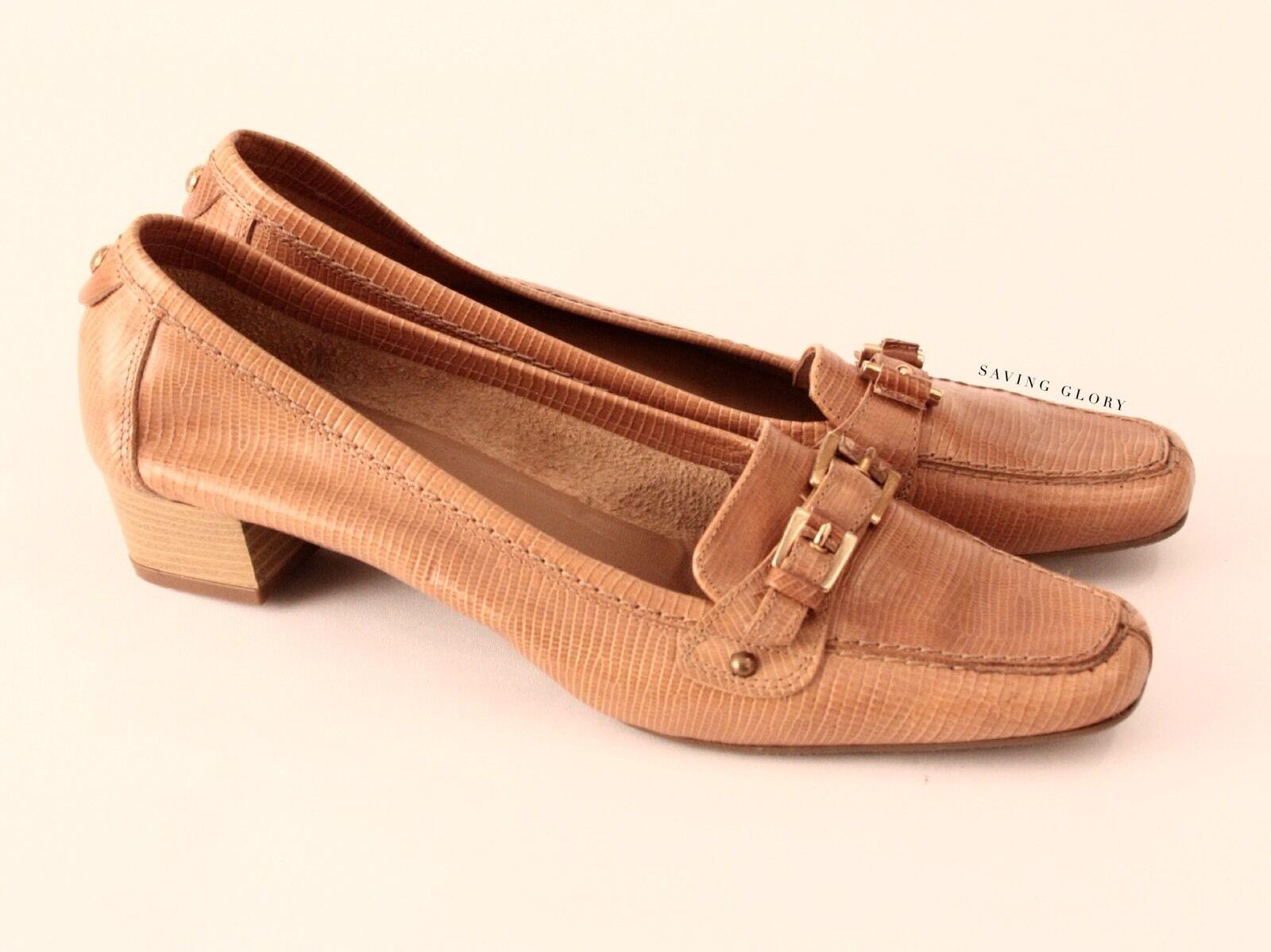 #savingglory Aura by LODI Camel Tan Leder Loafers Made in Spain 40.5 AU 9.5