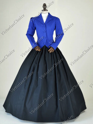Victorian Costumes: Dresses, Saloon Girls, Southern Belle, Witch    Victorian Edwardian Downton Abbey Vintage Suit Dress Riding Habit Theatre N 166 $129.00 AT vintagedancer.com
