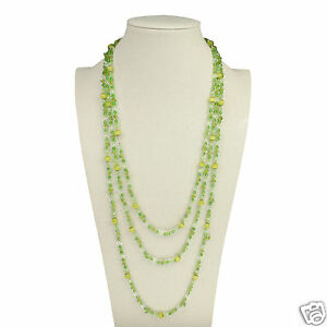 d16fcb0509 Green Cat s Eye Crystal Beads Necklace Chain Women s Jewelry Fashion ...