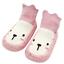 Baby Girl Boy Cute Animal High Knee Frist Walk Anti Slip Socks Shoes UK Seller