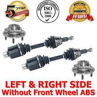 Front Axles & Wheel Hubs Bearings Dodge Ram 1500 2002-2005 Rear Wheel Abs 4wd