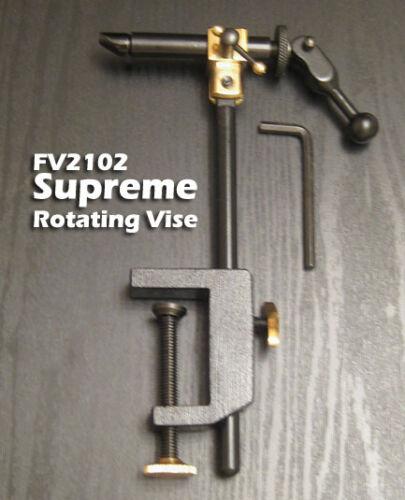 FV2134 Supreme Rotating Fly Tying Vise Combo w// Pedetal /& Clamp Base