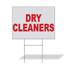 Weatherproof Yard Sign Dry Cleaners Red Lawn Garden Cleaning Services