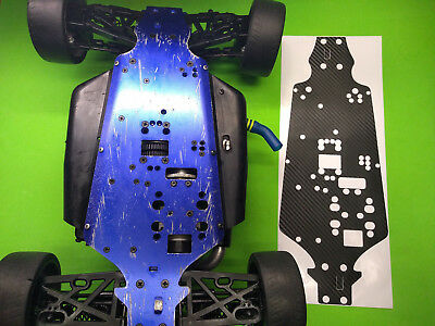 KYOSHO INFERNO GT 2 Chassis plate skin protector gt2 BLACK CARBON FIBER look