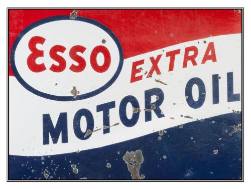 Garage Esso Extra Motor Oil Novelty Gift Man Cave Retro Metal Plaque//Sign