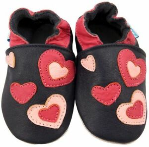 MINIFEET-SOFT-LEATHER-BABY-GIRL-SHOES-0-6-6-12-12-18-18-24-Mth-2-3-Yr-HEARTS