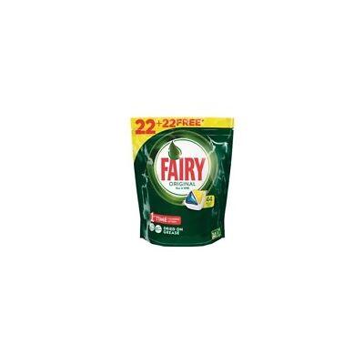 Fairy Lavavajillas Tabs Todo en 1 Limón (22+22 Gratis)