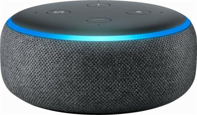 $Amazon Echo Dot 3rd Generation w/ Alexa Voice Media Device - Charcoal BRAND NEW