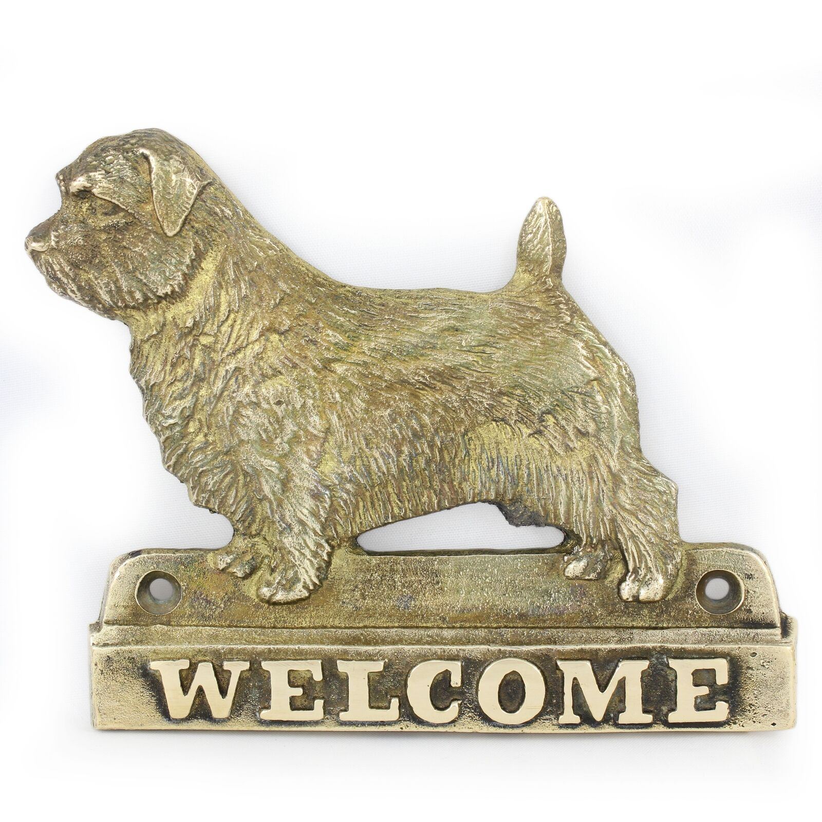 Norfolk Terrier - brass tablet with image of of of a dog Art Dog de207c