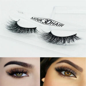 56d6e7c9670 Top Luxury 3D Mink False Lashes Wispy Fluffy Strip Eyelashes Long ...