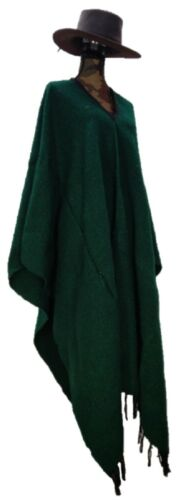 Sharpshooter Clint Eastwood Style Texmex Western Party Designer Green Poncho