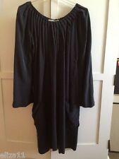 BRIAN REYES SILK BUBBLE DRESS - SMOKE GRAYISH BLACK - SIZE 4 - NWT