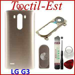 Cache-Batterie-avec-LOGO-LG-Lentille-Home-pour-LG-G3-D850-D851-D855-Gold-Or