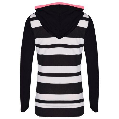 Kids Girls Tops Black Star Print Hooded Crop Top /& Legging Lounge Wear Set 7-13Y