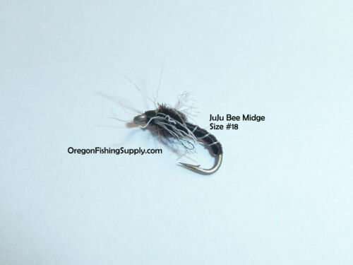 FREE shipping on All Additional items!! 6 fly in container JuJu Bee Midge #18