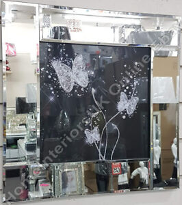 White-butterflies-with-black-stained-glass-liquid-art-crystals-amp-mirror-frames