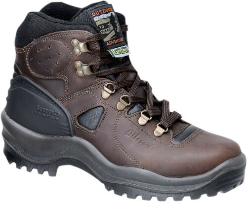 GRI Sport Mens Walking Shoes Brown Combi Leather Fat
