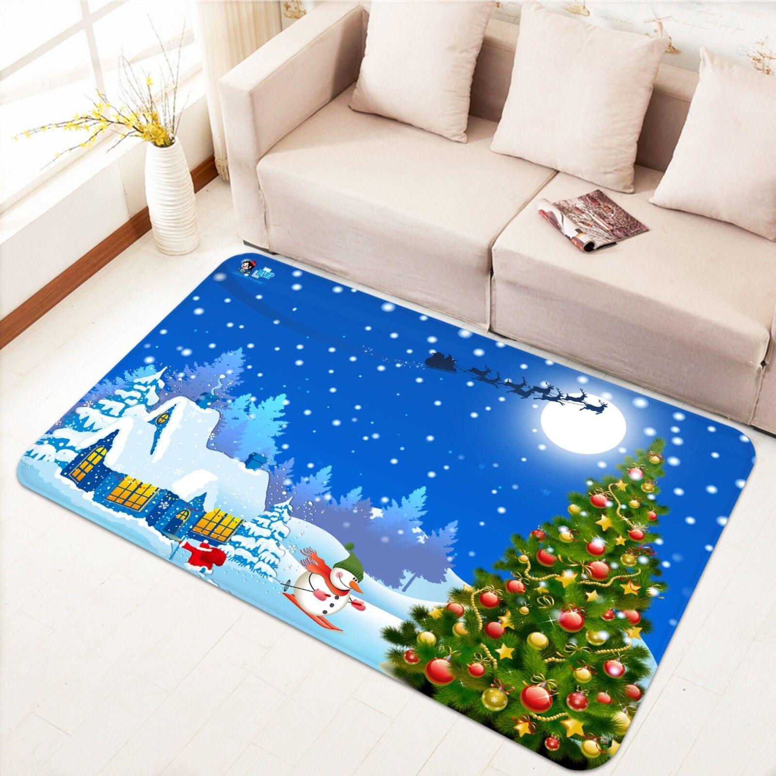 3d Natale Xmas 411 antiscivolo tappeto bagagliaio Qualità Tappeto Elegante