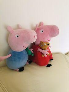 Peppa-Pig-Peluche-Set-Peppa-amp-George-Blanda-Juguete-De-Peluche-Cumpleanos