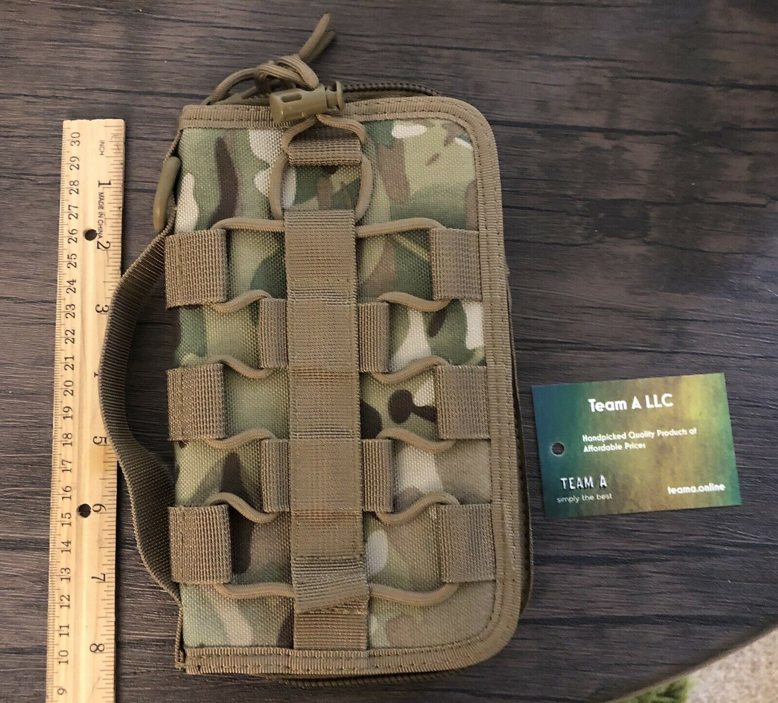 Heavy Duty Tactical Wallet And Passport Holder - Camouflage Green
