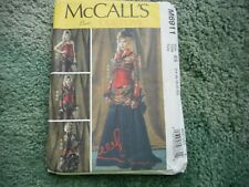 Size E5 McCall Pattern Company M6911 Misses Bolero Corset Skirt and Overskirt Sewing Template
