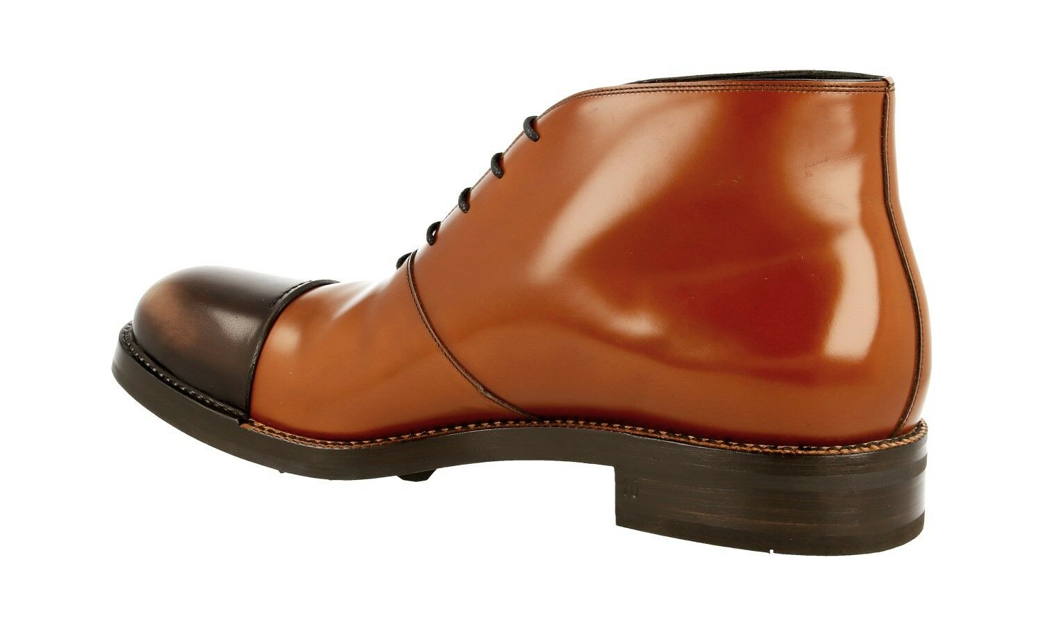 AUTH LUXURY PRADA HALF-BOOT SHOES 2TG108 TABACCO TABACCO TABACCO EBONY NEW 10 44 44,5 6e64c2