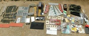 Vintage-HO-Scale-OO-Gauge-Track-Trees-Buildings-Parts-amp-Accessories-Lot-of-115