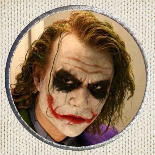 Heath Ledger Joker Patch Picture Embroidered Border Batman The Dark Knight Nolan