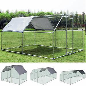 Gallinero de Exterior MEDIDAS con Estructura de Metal Galvanizado y Tela Oxford